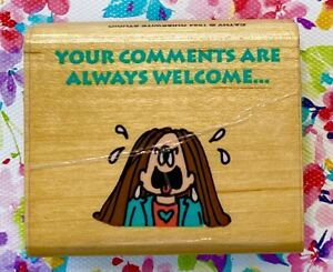 Vintage 1994 CATHY Your Comments guisewhite office joke zoom work secretary RARE