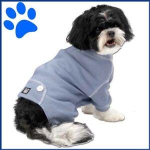 "Petrageous Blue Thermal Long John Style Dog Pajamas  "" FREE TOY""  S/M"