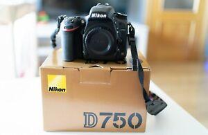 Nikon D750 24.3 MP Cámara Digital Réflex (Sólo cuerpo) con poco uso.