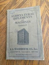 1927 JS Woodhouse Co Agricultural Implements And Machines Catalog