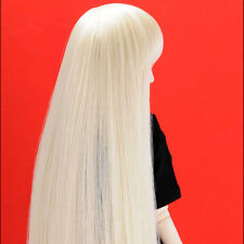 "Dollmore 1/4 BJD OOAK Supplier MSD wig  (7-8)"" Bangs + Straight (Blonde)"