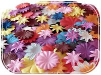 LOT FLEURS EN PAPIER SCRAPBOOKING SCRAP CARTE MULBERRY MULTICOLORE COULEUR SISSI