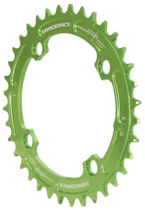 Race Face Single Narrow Wide 1x MTB Chainring - 104mm BCD 36t Green