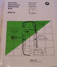 Bmw 5er e39 modulo III central carrocería-Elektronik seminario de formación bajo situación