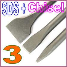 3 pc Set SDS Plus Point and Flat  Chisel Drill Bit  sct-888