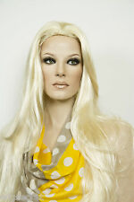 32 in Long Luxurious Full Bodied Hair Straight Blonde Brunette Red Grey Wigs