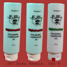 JFJ  Advanced Polish Compound Solution- Two #1 blue & One #2 white 12oz Easy Pro