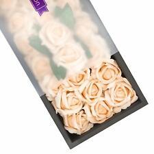 25 pcs Real Touch Foam Fake Roses Decoration Wedding Bridesmaid Bridal (Peach)