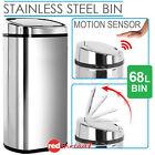 Stainless Steel 68L Rubbish Bin Motion Sensor Waste Automatic Garbage Kitchen