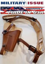 NEW BRN Military Issue Adirondack Leather Shoulder Holster M7/M9 1911 45Cal, 9mm