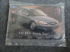 2002 Ford Taurus  quick start quide Owners Manual Supplement