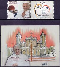 2015 Visita di Papa Francesco in Paraguay - serie+foglietto