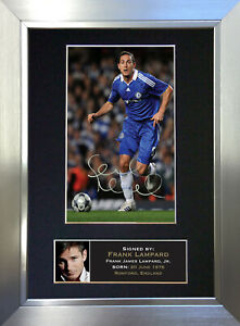 FRANK LAMPARD Chelsea Signed Autograph Mounted Photo Repro A4 Print 38