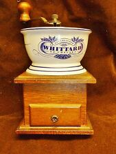 lovely vintage whittard of chelsea hand coffee grinder ceramic and wood complete