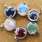 New Fashion Resin Gemstone Quartz Dragon Pendant Charm Jewelry no Necklace Chain
