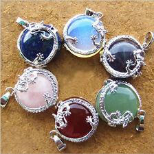 New Fashion Resin Gemstone Quartz Dragon Pendant Charm Jewelry no Necklace Chain