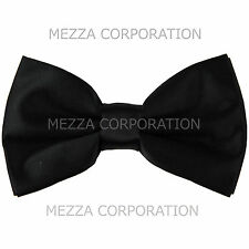 New formal men's pre tied Bow tie solid formal wedding party prom black