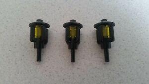 Lego 2566 4740 3062b # 3x Laterne Lampe Schwarz Licht transparent gelb 6243