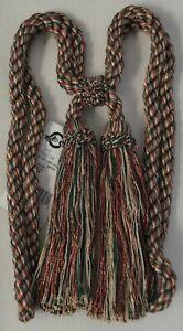 "Curtain & Chair Tie Back - 27"" spread w/ 5 5/8"" double tassels - 6 colorways!"