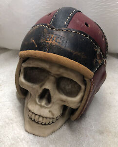 1920's-1930's Hutch H-8 Football Helmet Leather made in USA antique vintage