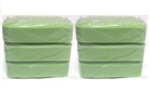6 x Bars Of Traditional Household Soap Pre Wash Laundry Cleaning Soap - Green