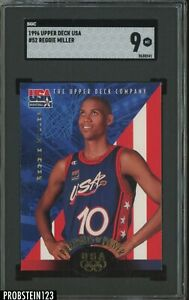 1996 Upper Deck USA Basketball #52 Reggie Miller HOF SGC 9 MINT