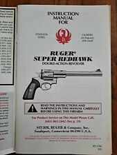 Original Ruger Super Redhawk Double Action Revolver Instruction Manual 11/99