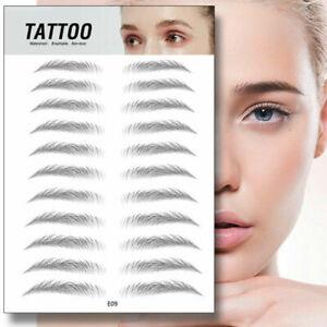 4D Hair-like Eyebrow Tattoo Sticker False Eyebrows Waterproof Lasting Makeup UK