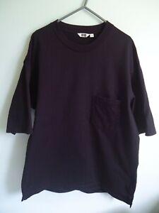 Mens Black UNIQLO Oversized T Shirt - Size Medium M - VGC