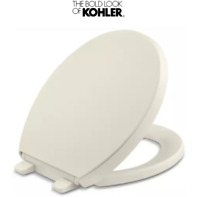 Grip Tight Reveal Q3 Round Closed Front Toilet Seat In Biscuit For Sale Online