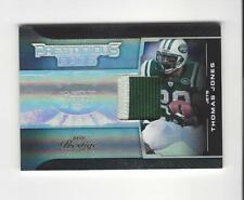 2008 Playoff Prestige Prestigious Pros Black Thomas Jones PATCH Jets /25