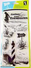 Down by the Seaside Beach Clear Acrylic Stamp Set by Inkadinkado Stamps 60-30059