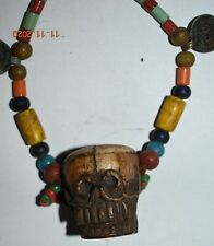 """Sale! Nepal/Tibet Shamans Necklace, Coin, Shell 16"""" Prov"""