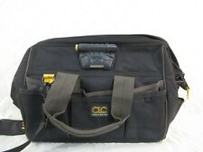 CLC Tech Gear Canvas Multi-Compartment Tool Bag w/LED Light Rugged Carpenter
