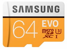 Samsung EVO 64GB Micro SDHC UHS-I Class 10 Memory Card 100MB/s with SD Adaptor