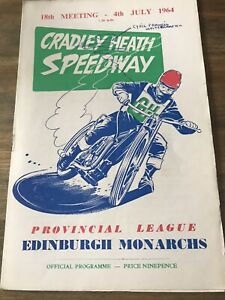 1964 Cradley Heath v Edinburgh Speedway Programme. Autographed By Cyril Francis.