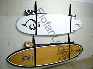 STAND UP PADDLE BOARD SUP STORAGE RACK / STRAPS  HOLDS 2 SUPS AND PADDLES