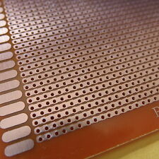 5x pcb 9x15cm Streifenraste Lochraster Platine Leiterplatte jointe Löcher