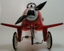 Air Plane Pedal Car Red Body WW2 Mustang Airplane Rare Midget Metal Model Sale