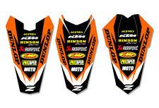 KTM FENDER DECAL GRAPHIC STICKER SX50 2009-2014 - ORANGE