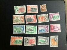 dominica stamp scott 142-156 mhog scv 61.00 cb711