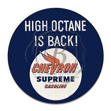 Chevron Supreme Gasoline High Octane Is Back Reproduction Aluminum Sign