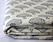 20 Yard Hand Block Print Cotton Fabric Flower Printed 100% Soft Cotton Fabric 24