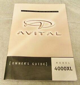 Avital  Keyless Entry System Owner's Guide for Model 4000XL System