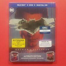 Batman v Superman: Dawn of Justice STEELBOOK Blu-Ray+DVD+Digital HD - BRAND NEW