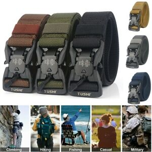 8 Colors Tactical Belt Magnetic Quick Release Buckle Adjustable Nylon Fashion US