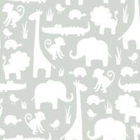 C'EST un Jungle en Ici Autocollant Papier Peint - Gris NU1393 fine decor