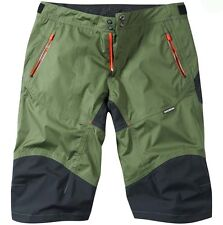 Madison Addict Mens Waterproof Baggy MTB Bicycle Bike Shorts Olive Green Medium