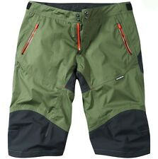 Madison Addict Mens Waterproof Baggy MTB Bicycle Bike Shorts Olive Green XLarge