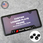 For Audi Sport Front Or Rear Carbon Fiber Texture License Plate Frame Cover Gift